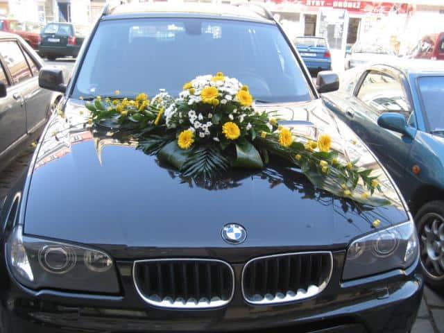 Květiny Studio Detail nazdobené auto