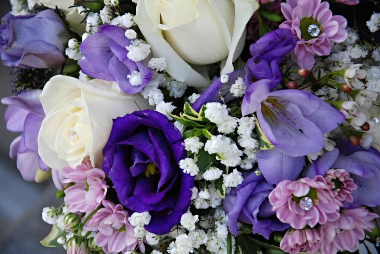Svatební kytice modrá