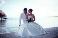 Novomanželé na Tahiti