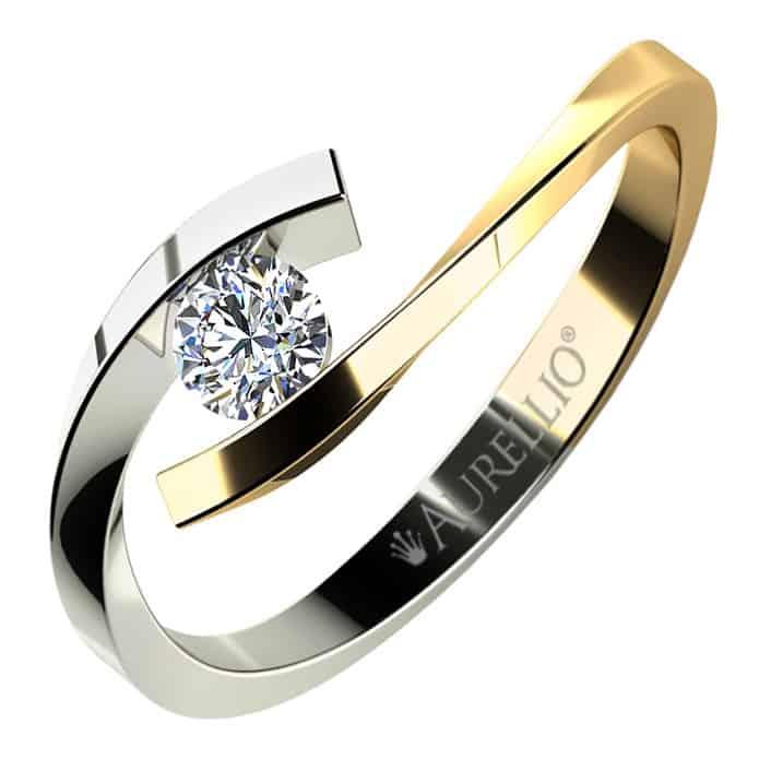 Zásnubní prsten žluté zlato