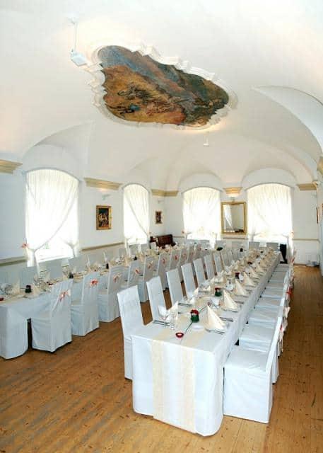 Restaurant Petřínské terasy svatební tabule