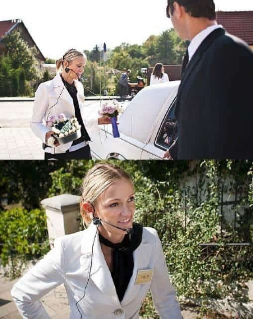 Salon Naive svatební agentka s mikrofónem