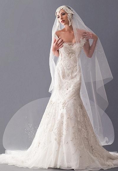 Nádherné svatební šaty