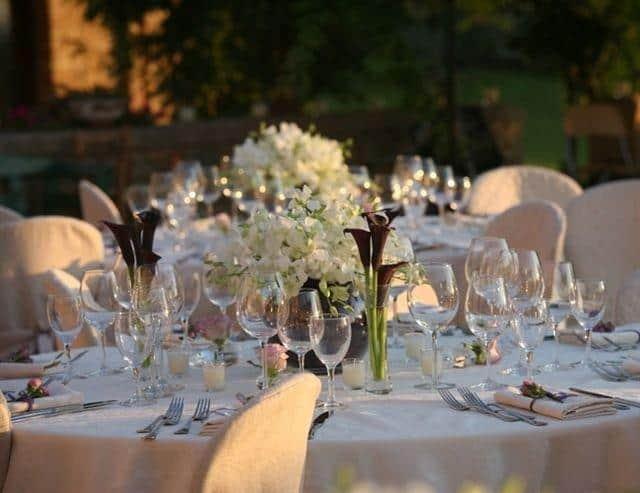 Svatby Nebozízek svatební tabule exterier