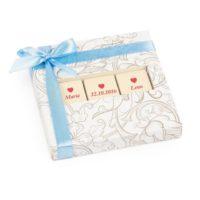 Svatební čokoládky od Chocolissimo dárková paletka