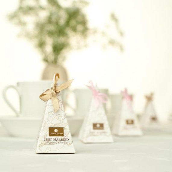 Svatební čokoládky od Chocolissimo piramids