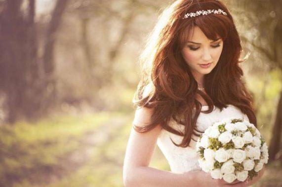 Svatební foto a video Kurt Neubauer nevěsta s kyticí