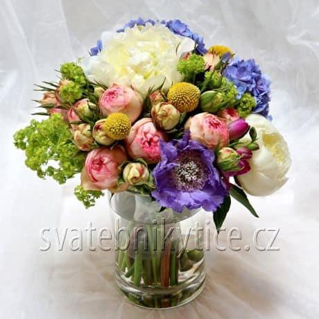 Svatební kytice barevná