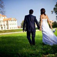 Zámek Liblice novomanželé