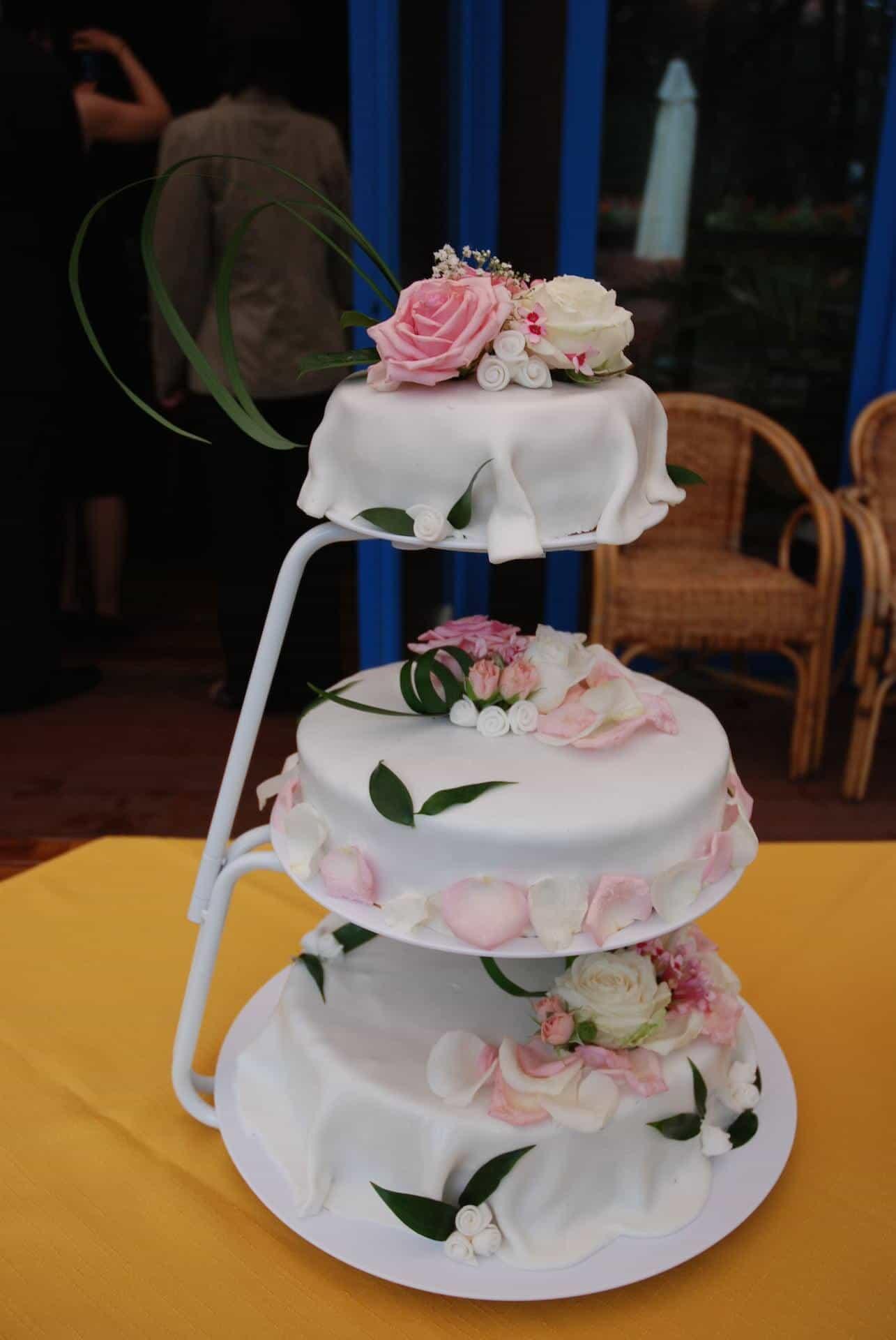 Hliněná bašta Průhonice svatební dort