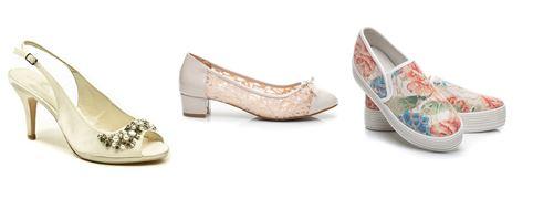 Svatební obuv s páskem, balerýnky, tenisky