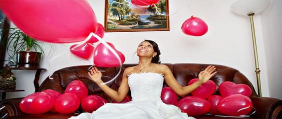 Balónková svatební výzdoba
