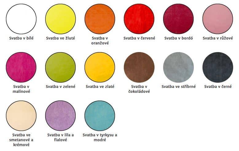 Výzdoba podle barev