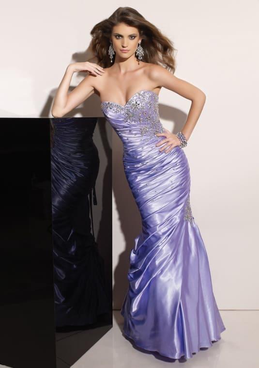 Belladona - saténové šaty