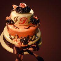 Svatební dort od základu zcela speciální, vytvořen pro nevěstu trpící ,,Crohnovou chorobou