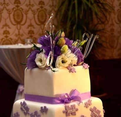 Monogramy na dort