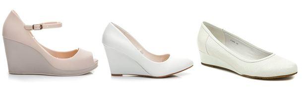 Svatební obuv na klínku