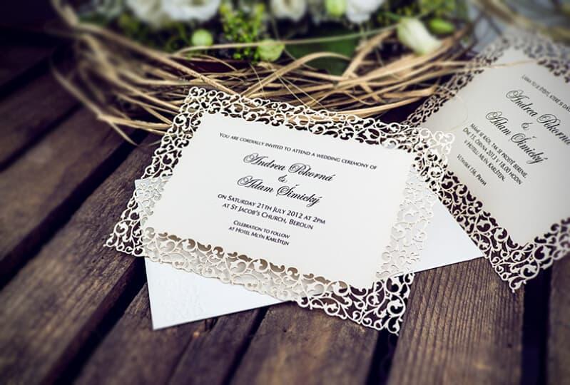 Svatební oznámení Goldpress