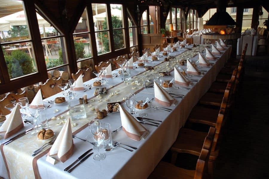 Petřínské terasy - svatební tabule
