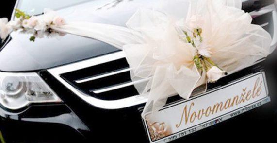 """Svatební SPZka """"Novomanželé"""" na auto"""