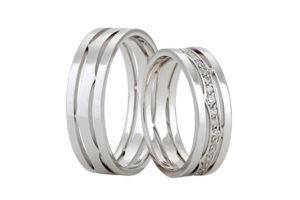 Snubní prsteny z bílého zlata