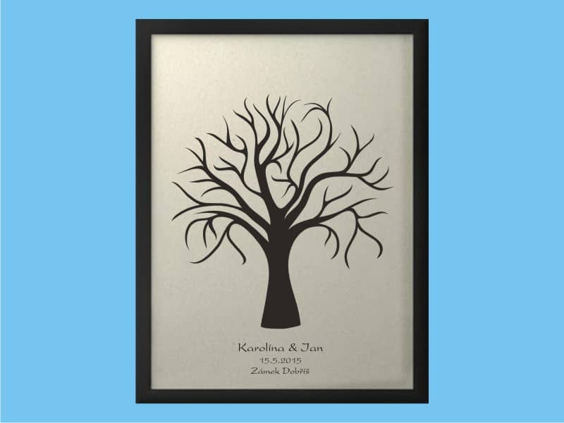 Svatební strom se jmény