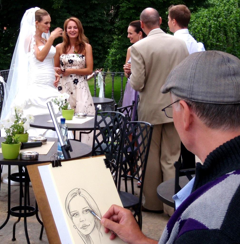 Svatební karikatura zábava na svatbu