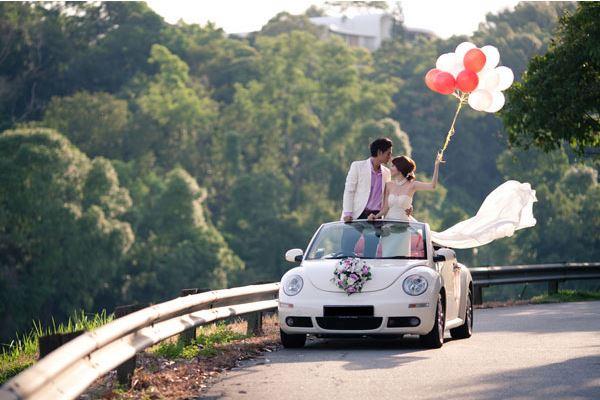 Svatební auto VW Beetle cabrio