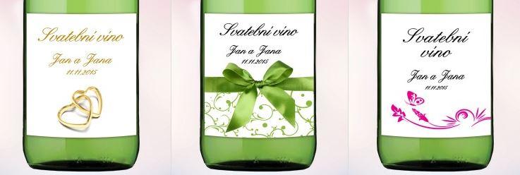 Svatební víno etikety