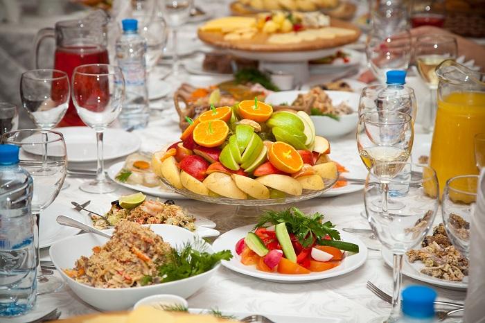 Vegetariánská svatební hostina