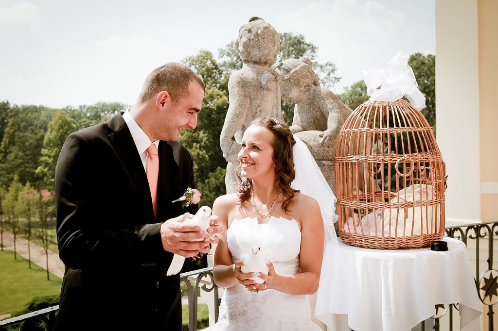 Zámek Liblice - novomanželé