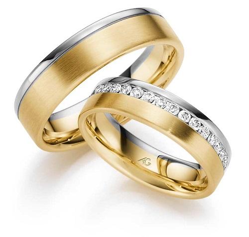 Zlatnictví Řehák-Karnas - snubní prsteny žluté a bílé zlato