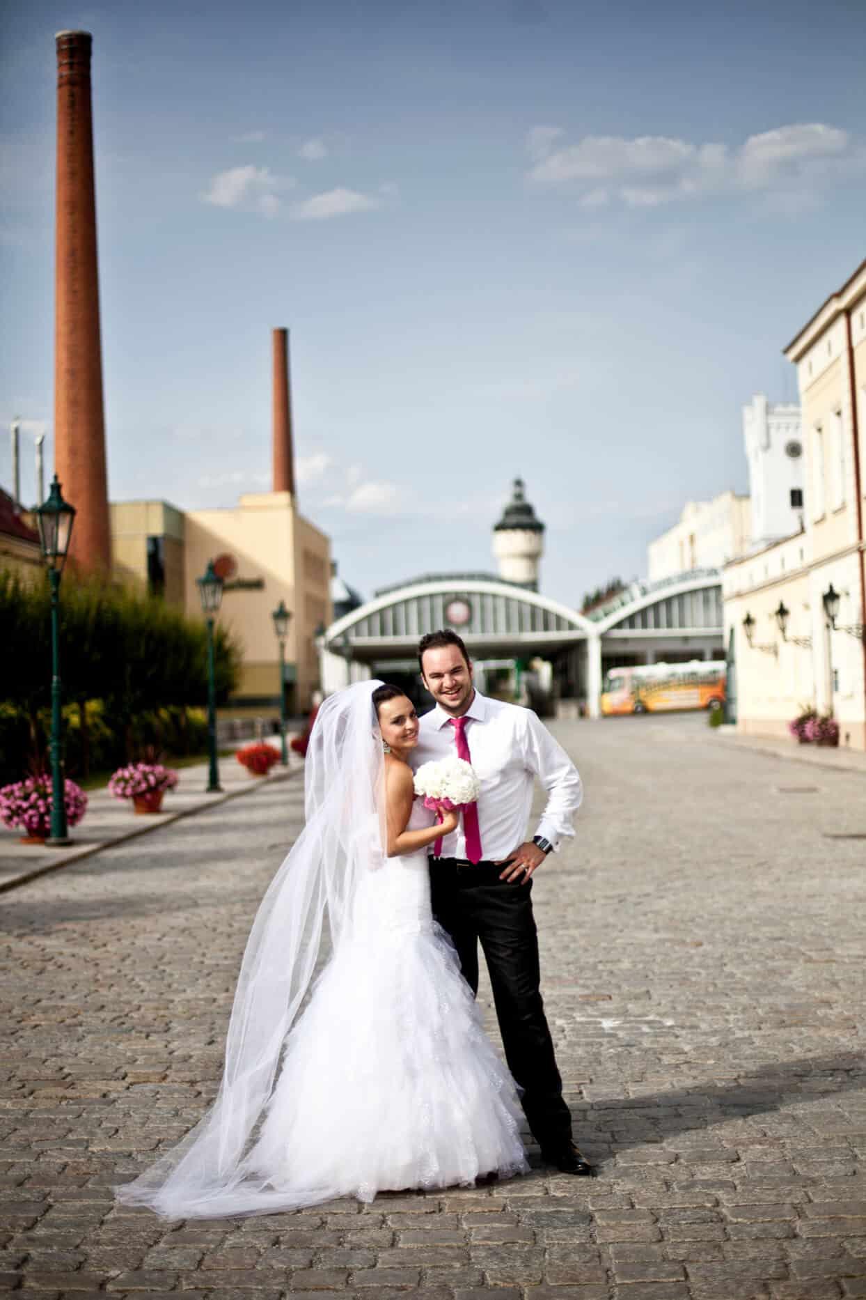 Svatba v pivovaru - nádvoří