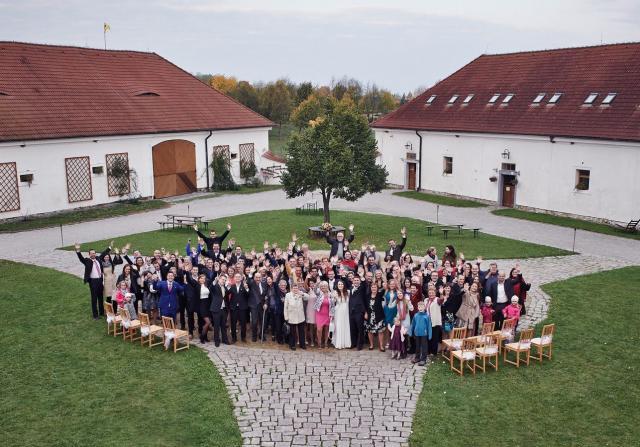 Barokní statek Benice svatební foto