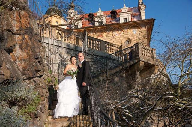Zámek Průhonice novomanželé