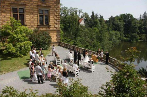 Zámek Průhonice svatba