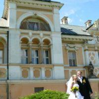 Zámek Světlá nad Sázavou novomanželé