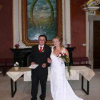 Zámek Světlá nad Sázavou novomanželé u obřadu