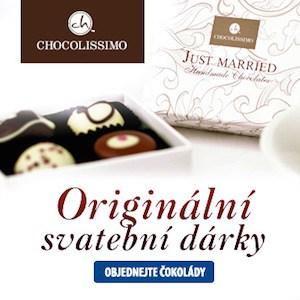 Čokolády jako originální svatební dárky