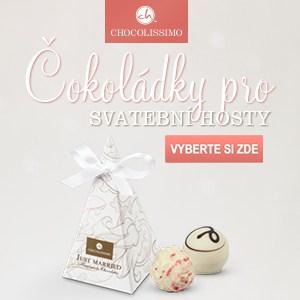 Čokoládky pro svatební hosty