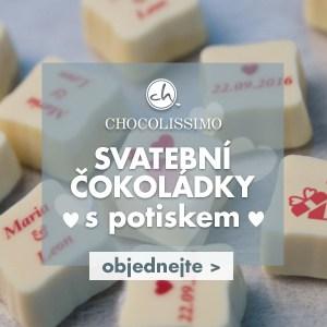 Svatební čokoládky s potiskem od Chocolissimo