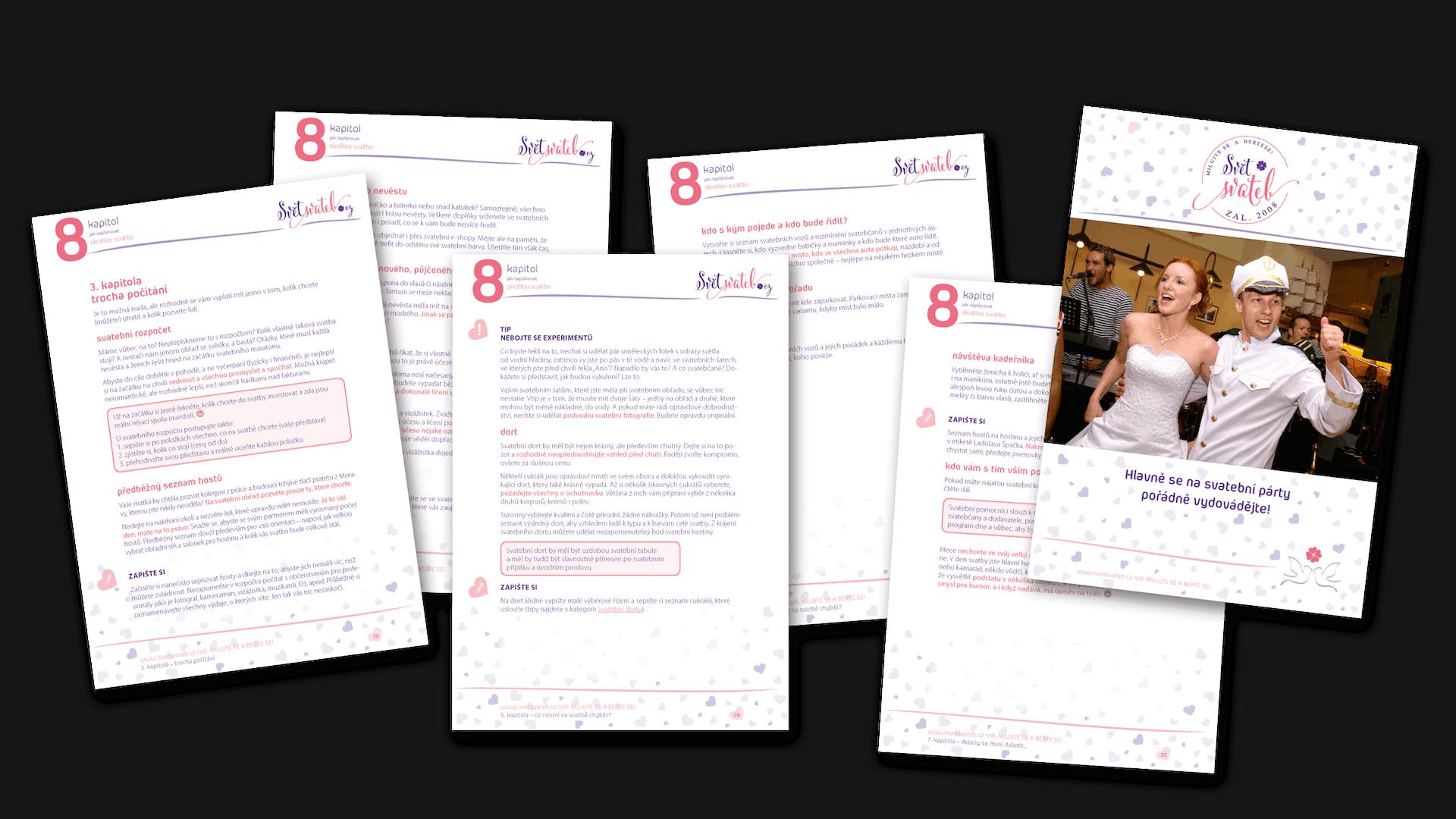 Svatební eBook 8 kapitol ukázkové stránky