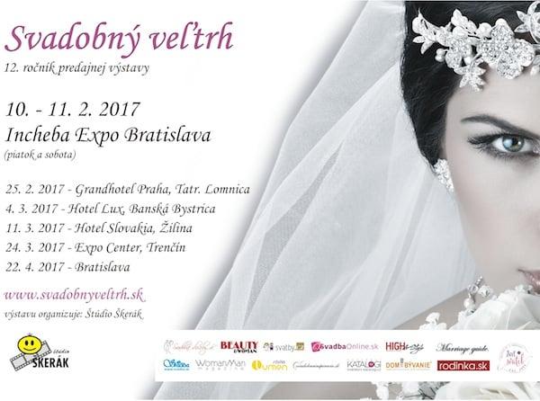 Svatební veletrhy na Slovensku 2017