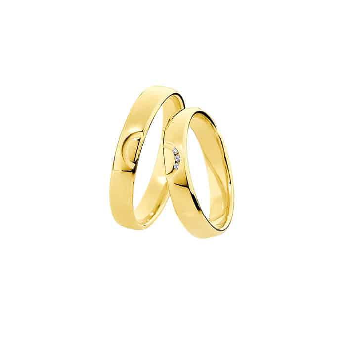 Snubní prsteny ze žlutého zlata