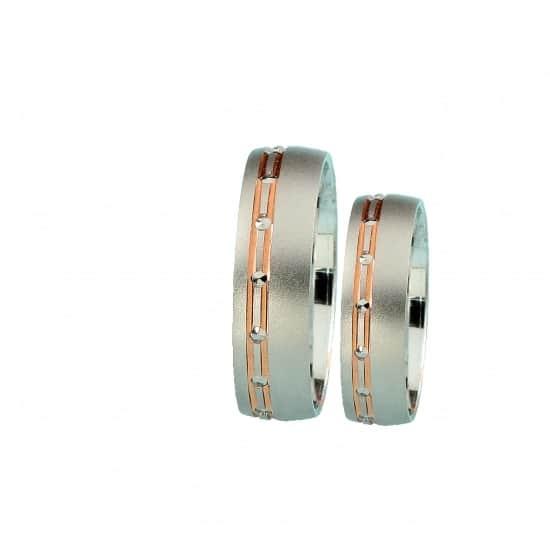 Snubní prsteny s růžovým zlatemFarbilia