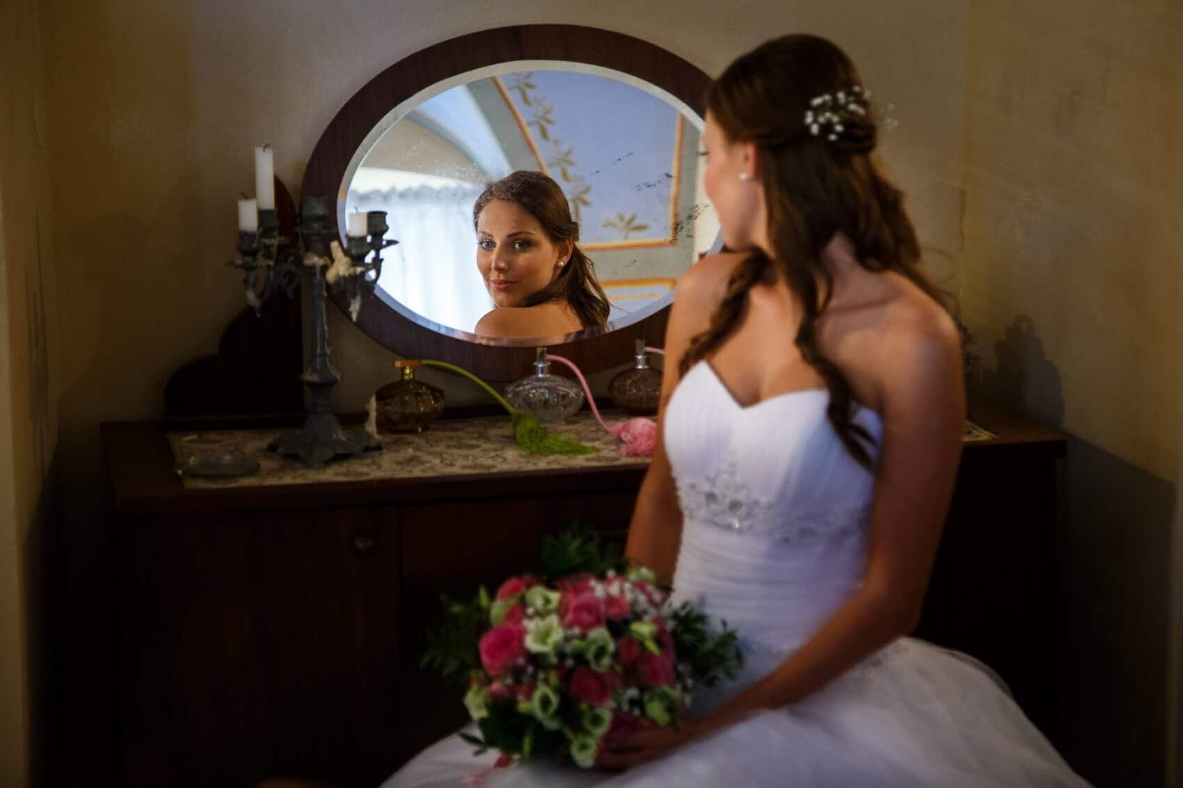 Fotograf Radek Vandra nevěsta u zrcadla