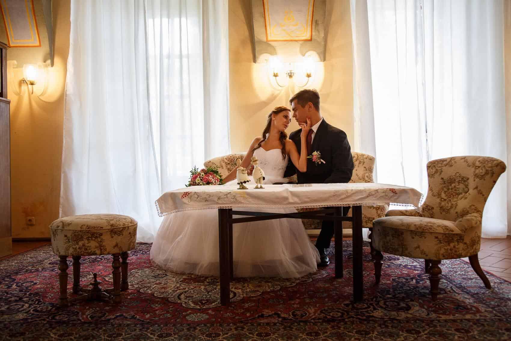 Fotograf Radek Vandara novomanželé na zámku