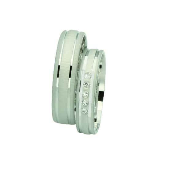 Snubní prsteny z bílého zlata Farbilia