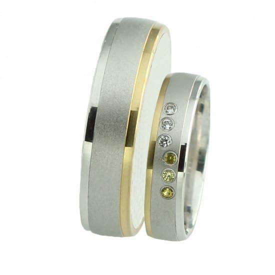 Snubní prsteny se žlutým zlatem Farbilia