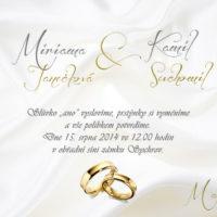 Svatební oznámení bílé